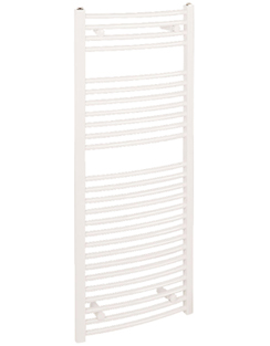 More info Reina Diva White Curved Heated Towel Rail 400 x 1200mm
