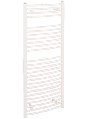 Reina Diva White Curved Heated Towel Rail 400 x 1200mm