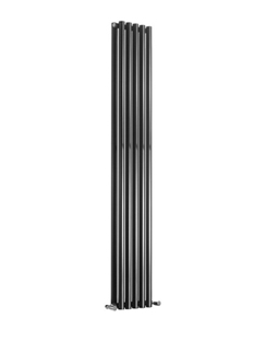 More info Reina Round Double Black Designer Radiator 413 x 1800mm