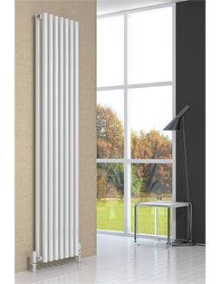 More info Reina Round Double White Designer Radiator 413 x 1800mm