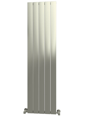 Reina Savona Vertical Polished Aluminium Radiator 375 x 1800mm