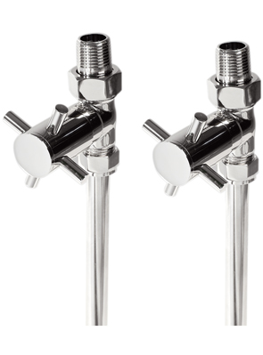 Phoenix Modern Cross Straight Chrome Radiator Valves