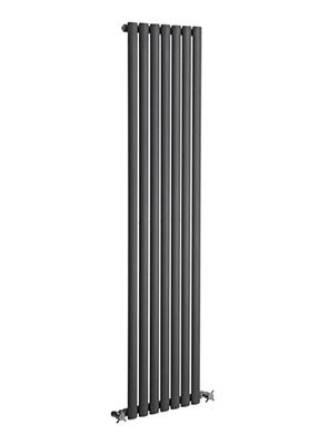 Reina Neva Anthracite Single Panel Vertical Radiator 413 x 1500mm