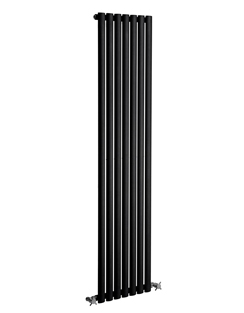 More info Reina Neva Black Single Panel Vertical Radiator 413 x 1500mm