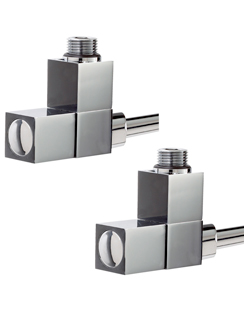 More info Phoenix Square Angled Chrome Radiator Valves