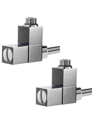 Phoenix Square Angled Chrome Radiator Valves