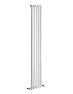 More info Reina Neva White Single Panel Vertical Radiator 413 x 1500mm