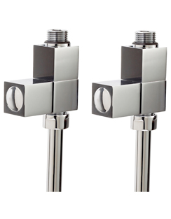 More info Phoenix Square Straight Chrome Radiator Valves