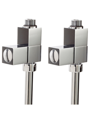 Phoenix Square Straight Chrome Radiator Valves