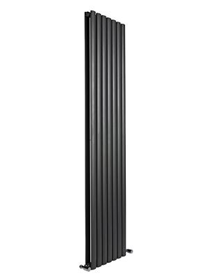 Reina Neva Black Double Panel Vertical Radiator 295 x 1500mm
