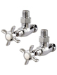 Phoenix Traditional Angled Chrome Radiator Valves
