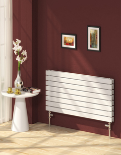 More info Reina Rione Double White Designer Radiator 400 x 550mm