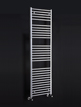 Phoenix Flavia Straight 500 x 800mm White Heated Towel Rail