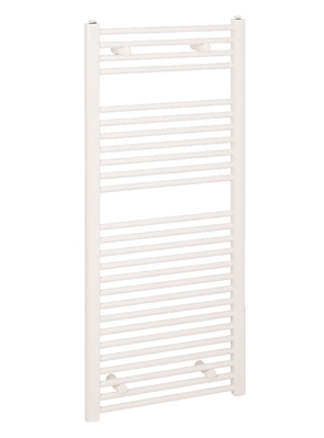 Reina Diva Flat Thermostatic Electric Towel Rail 600 x 800mm White