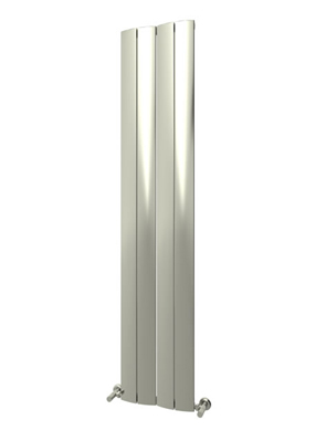 Reina Evago Polished Aluminium Vertical Radiator 375 x 1800mm