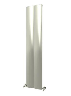 Reina Evago Polished Aluminium Vertical Radiator 225 x 1800mm