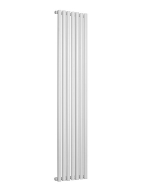 Reina Round Single White Designer Radiator 295 x 1800mm