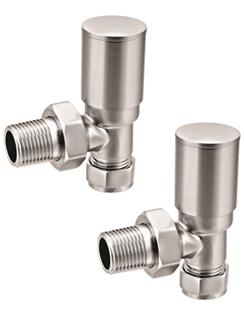 More info Reina Portland Brushed Contemporary Angled Radiator Valves