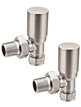 Reina Portland Brushed Contemporary Angled Radiator Valves