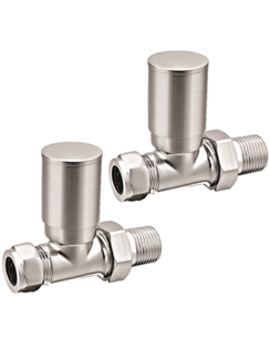 More info Reina Portland Brushed Contemporary Straight Radiator Valves