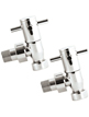 Reina Ellie Chrome Cross-Head Angled Radiator Valves