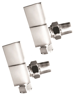 More info Reina Richmond Chrome Contemporary Angled Radiator Valves