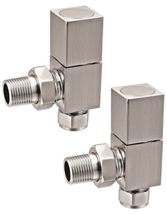 More info Reina Richmond Brushed Contemporary Angled Radiator Valves