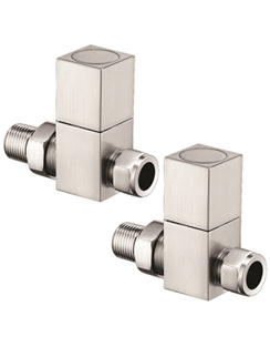 More info Reina Richmond Brushed Contemporary Straight Radiator Valves