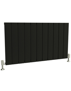 More info Reina Savona Horizontal Black Aluminium Radiator 660 x 600mm