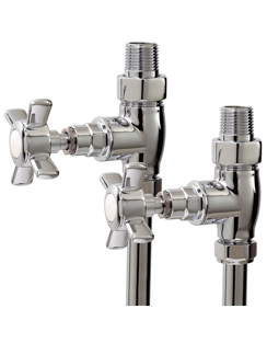More info Phoenix Traditional Straight Chrome Radiator Valves