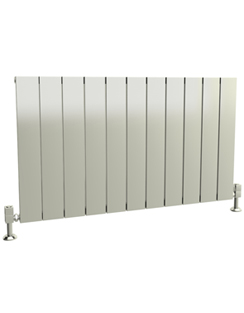 More info Reina Savona Horizontal Polished Aluminium Radiator 470 x 600mm