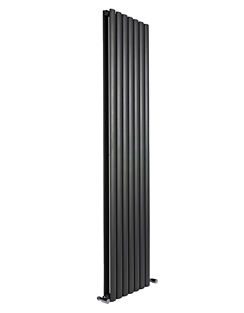 More info Reina Neva Black Double Panel Vertical Radiator 413 x 1500mm