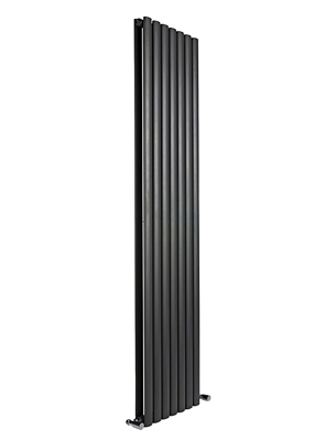 Reina Neva Black Double Panel Vertical Radiator 413 x 1500mm