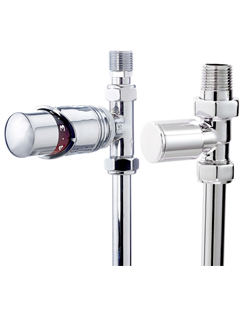 More info Phoenix Thermostatic Straight And Plain Chrome Radiator Valves