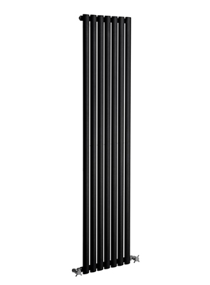 Reina Neva 413 x 1800mm Single Panel Vertical Radiator Black