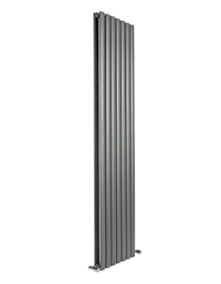 More info Reina Neva Anthracite Double Panel Vertical Radiator 413 x 1500mm