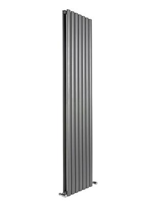 Reina Neva Anthracite Double Panel Vertical Radiator 413 x 1500mm