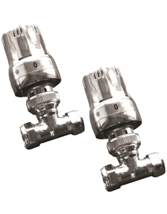 Related Reina Windsor Chrome TRV Lockshield Straight Radiator Valves
