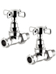 Reina Bronte Chrome Traditional Straight Radiator Valves