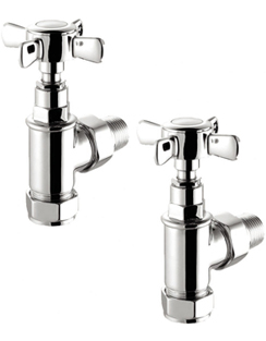 Related Reina Bronte Chrome Traditional Angled Radiator Valves