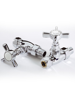 Related MHS Belgravia Chrome Plated Straight Radiator Valves Pair