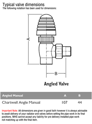 MHS Chartwell Anthracite 15mm Angled Manual Radiator Valves