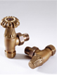 MHS Chartwell 15mm Angled Manual Radiator Valves Brass