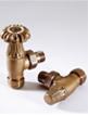 MHS Chartwell 15mm Angled Manual Radiator Valves Brass