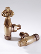 MHS Chartwell 15mm Angled Thermostatic Radiator Valves Brass