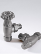 MHS Chartwell Three Forth Inch Angled Manual Radiator Valves Anthracite