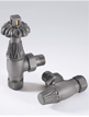 MHS Chartwell 15mm Angled Thermostatic Radiator Valves Anthracite