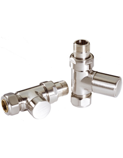 Related MHS Radius Straight Manual Satin Radiator Valves