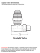 MHS Gyro Straight Thermostatic Radiator Valve With Standard Chrome Head