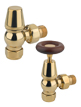 MHS Kentwell Angled Manual Radiator Valves Polished Brass
